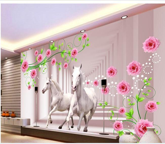 Customize wallpaper papel de parede HD Falls View 3d mural ...
