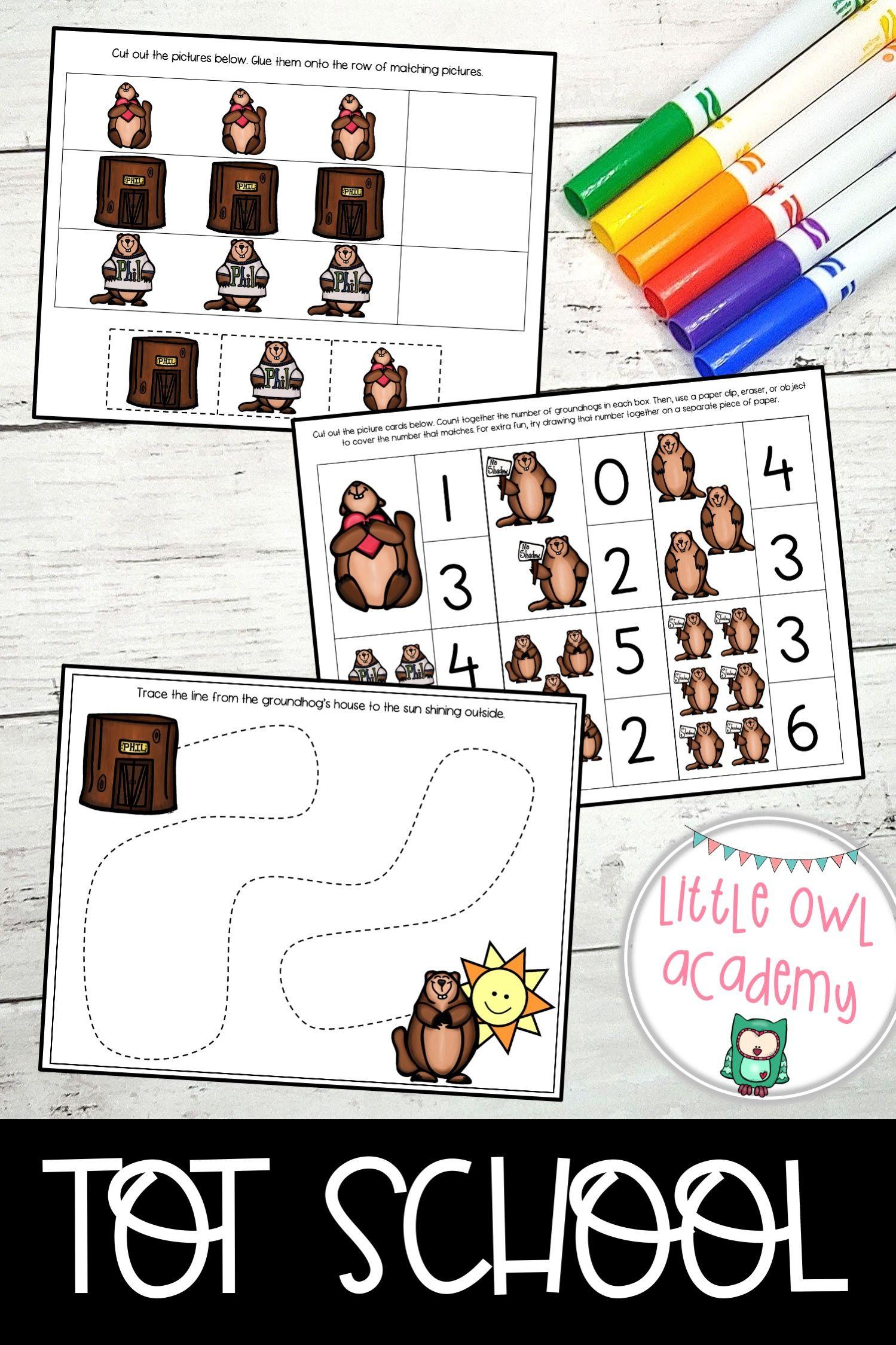 Grumpy Groundhog Toddler Curriculum