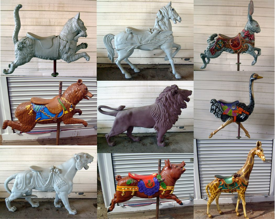 fiberglass dentzel carousel animals molds taken from the originals at knott s berry farm. Black Bedroom Furniture Sets. Home Design Ideas
