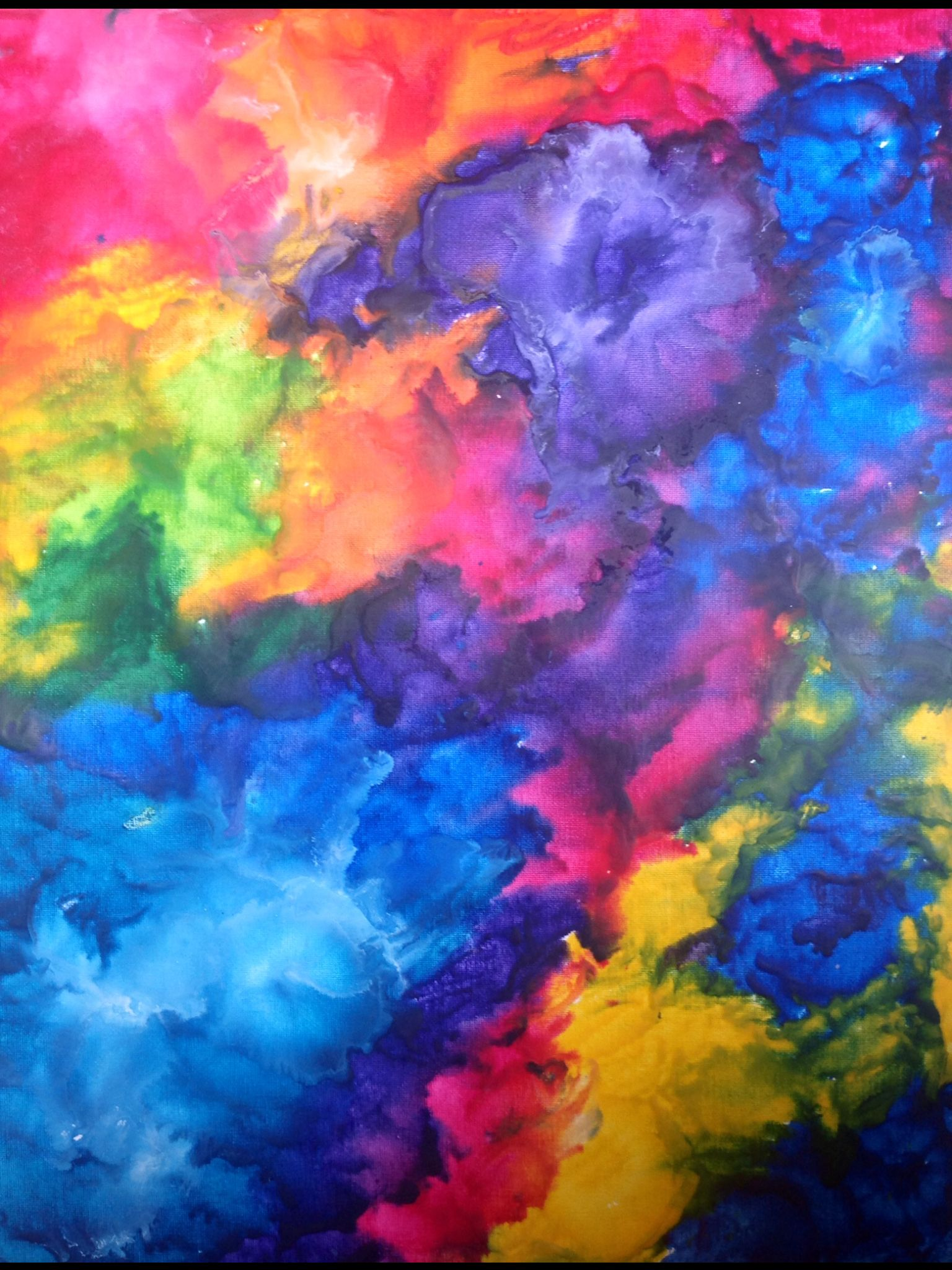 Pin By Paige West On My Work Spray Paint Art Watercolor Clouds Abstract