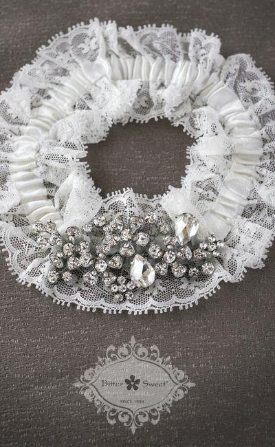 Bitter Sweet Bridal Collection. Garter. #bridal #jewellery #wedding #elegant #floral #lace