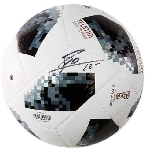 f6ab417404d LIONEL LEO MESSI Autographed FIFA World Cup 2018 Telstar Soccer Ball ICONS