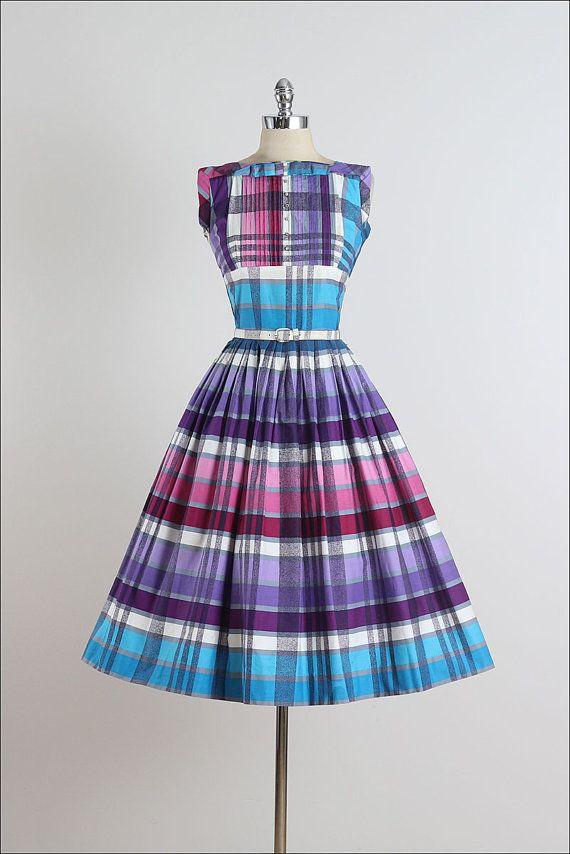 Pique-Nique . vintage 1950s dress . vintage 50s dress . 4925 ...