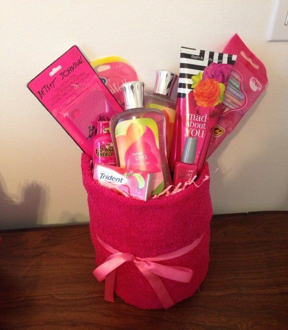 Items similar to Pretty in Pink Gift Basket Birthday Celebration Christmas Holiday Congratulations Present on Etsy