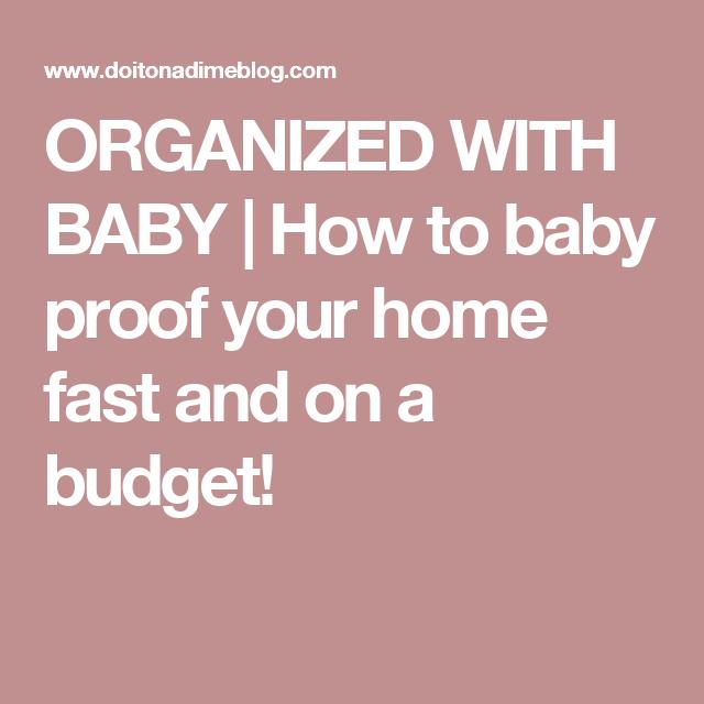 ORGANIZED WITH BABY | Budgeting, Organization, Baby