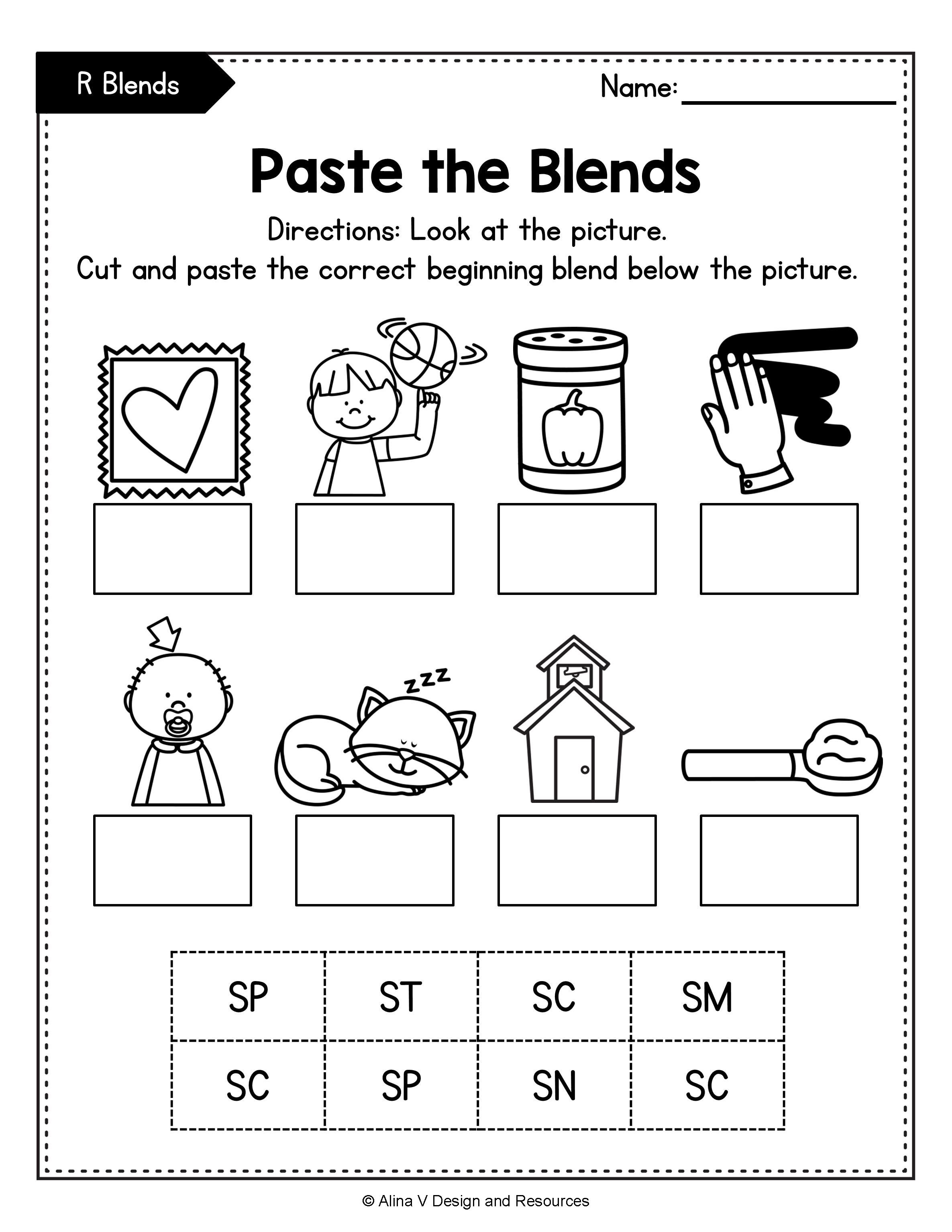 Reading Blends Worksheets   Printable Worksheets and Activities for  Teachers [ 3069 x 2371 Pixel ]