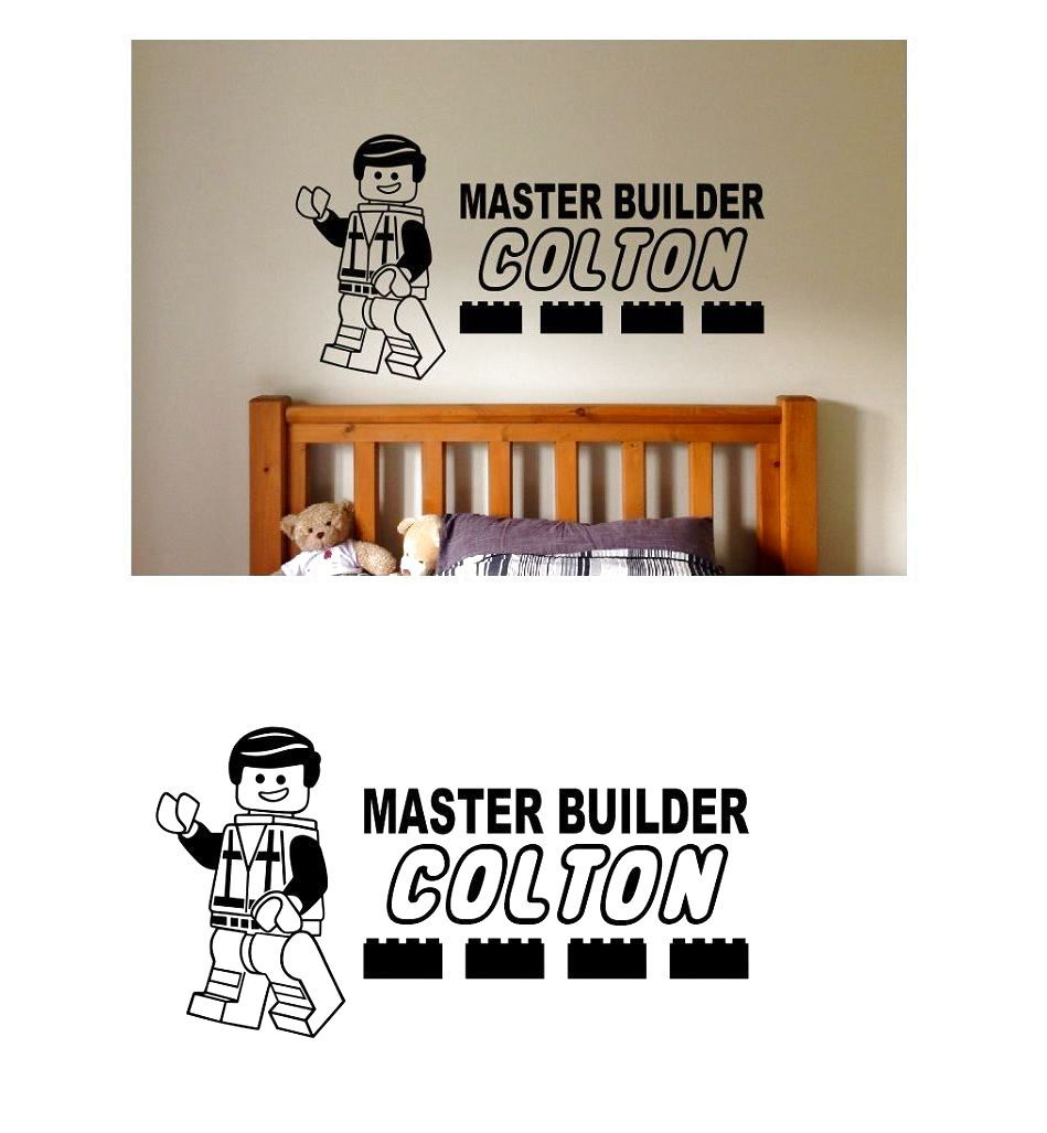 Lego wall decal personalized master builder bedroom decor emmit lego wall decal personalized master builder bedroom decor emmit wall art sticker 79 amipublicfo Gallery