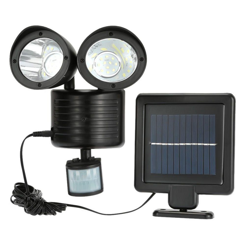 Universe Of Goods Buy Binval Solar Lamp 2 Head Sensor Waterproof 22led Garden Outdoor Pa Motion Sensor Lights Outdoor Sensor Lights Outdoor Solar Led Lights