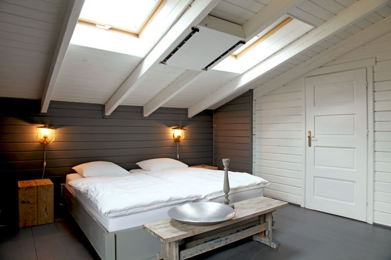 Chambre sous toit | Attic, Small apartments and Apartments