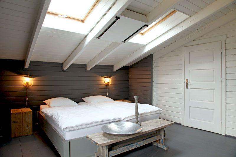Chambre sous toit sobri t et fantaisie home deco small apartments in attics chambre zen - Chambre sous toit ...