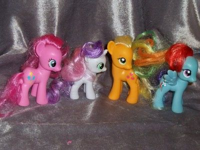 My Little Pony Lot Of 4 Friendship Is Magic Pinkie Pie Apple Jack Rainbow Dash