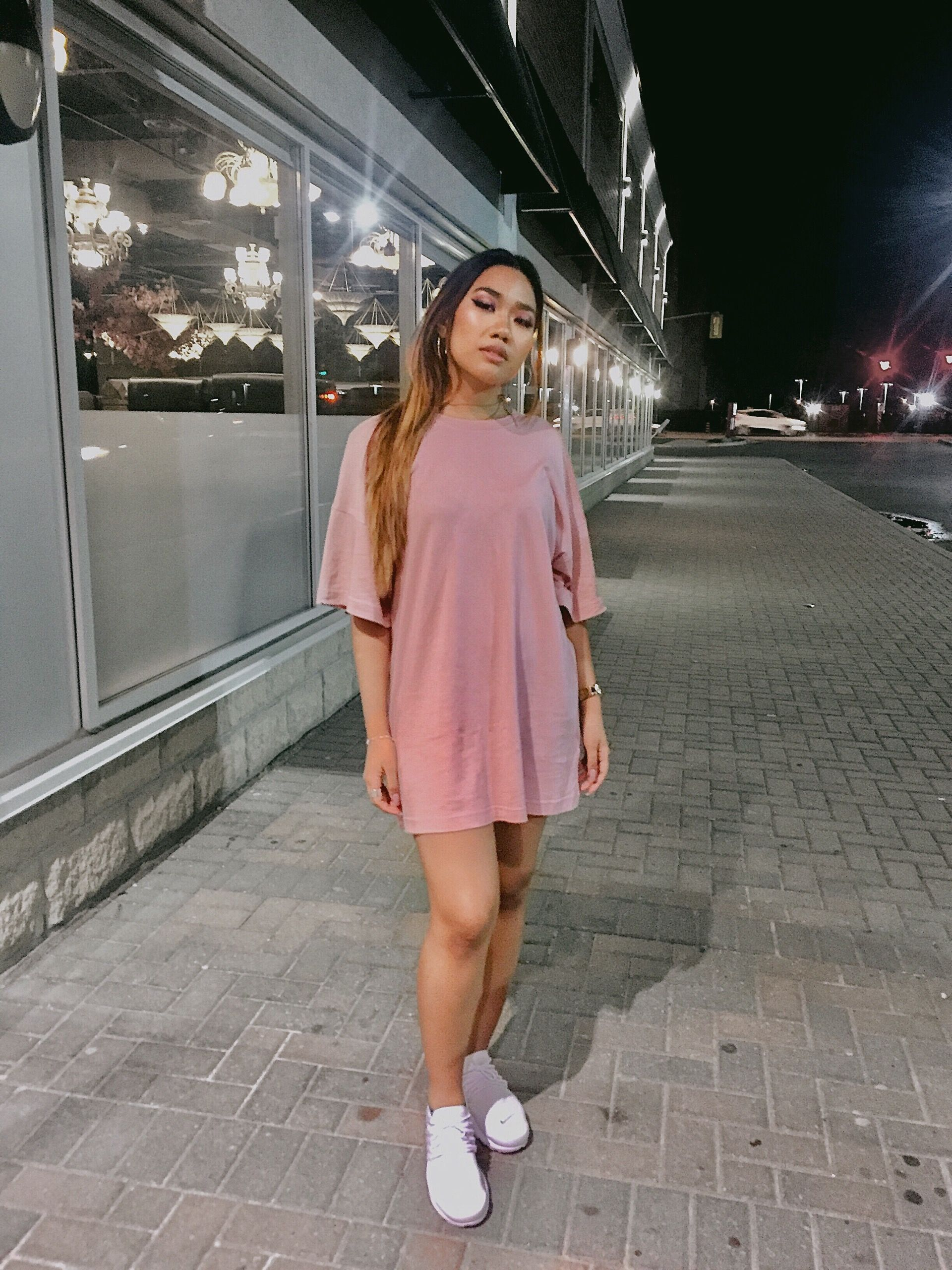 5859fc5a Oversized shirt to a dress #boujee #pink Instagram: @joan.are | wish ...
