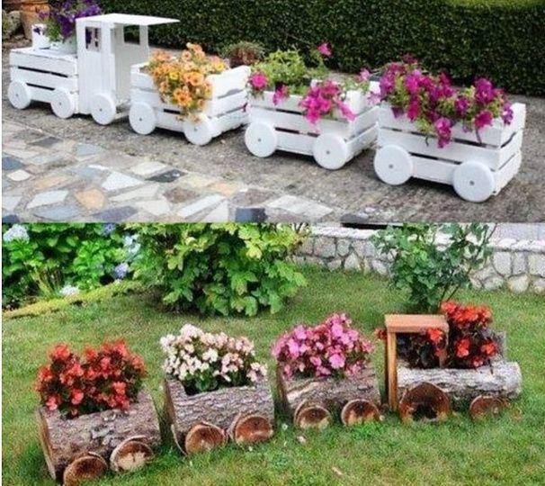 Belles idées récup et déco pour le jardin ! | jardin | Pinterest ...