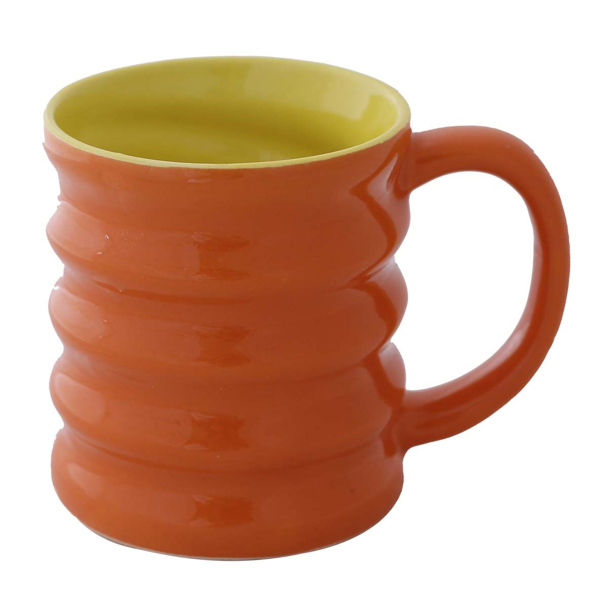 Bulk Wholesale Handmade Ceramic Coffee Tea Mugs Ribbed