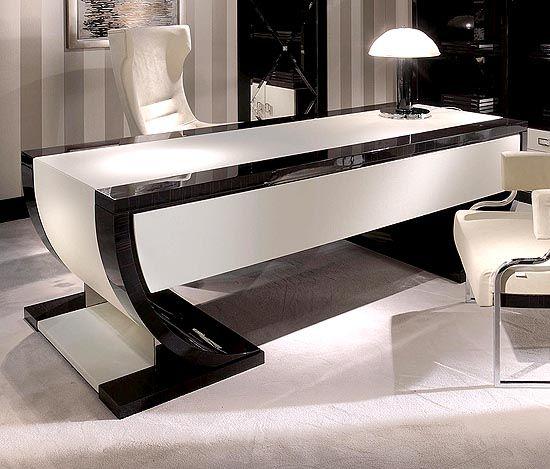 Macassar Ebony And Eel Leather Sofas And Rare Designer Furniture.