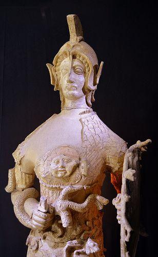 Minerva Tritonia Polychrome terracotta 5th BCE  Museo Archeologico Lavinium,Pomezia,Italy