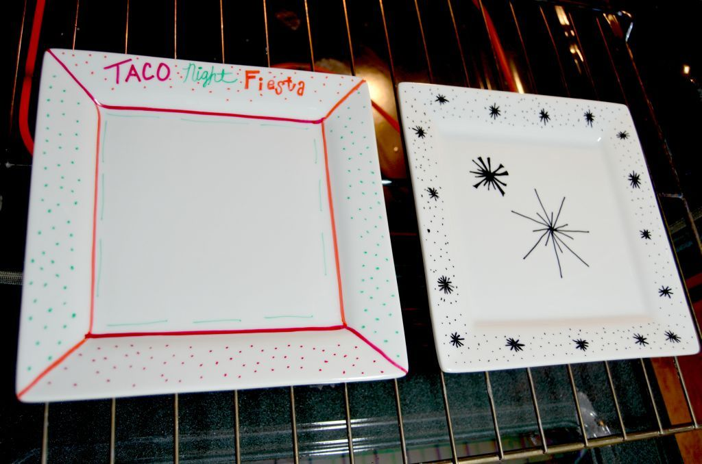 Baked Sharpie Plates: An Easy DIY #sharpieplates