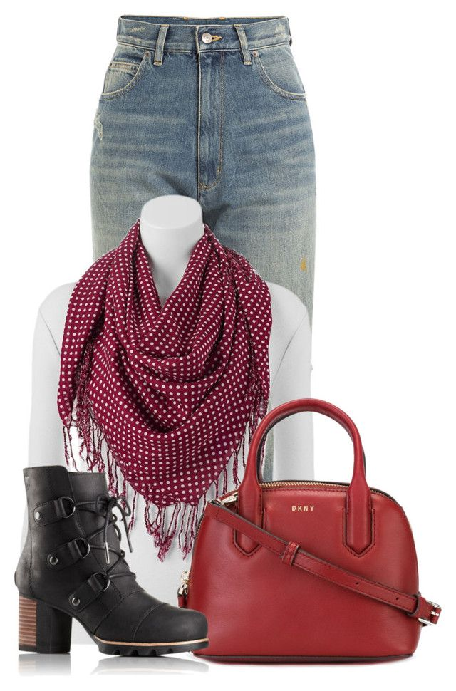 """""""Untitled #19458"""" by nanette-253 ❤ liked on Polyvore featuring Golden Goose, Keds, DKNY and SOREL"""