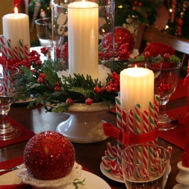 What a festive dinner table set up! Creative and an easy DIY project. # & What a festive dinner table set up! Creative and an easy DIY project ...