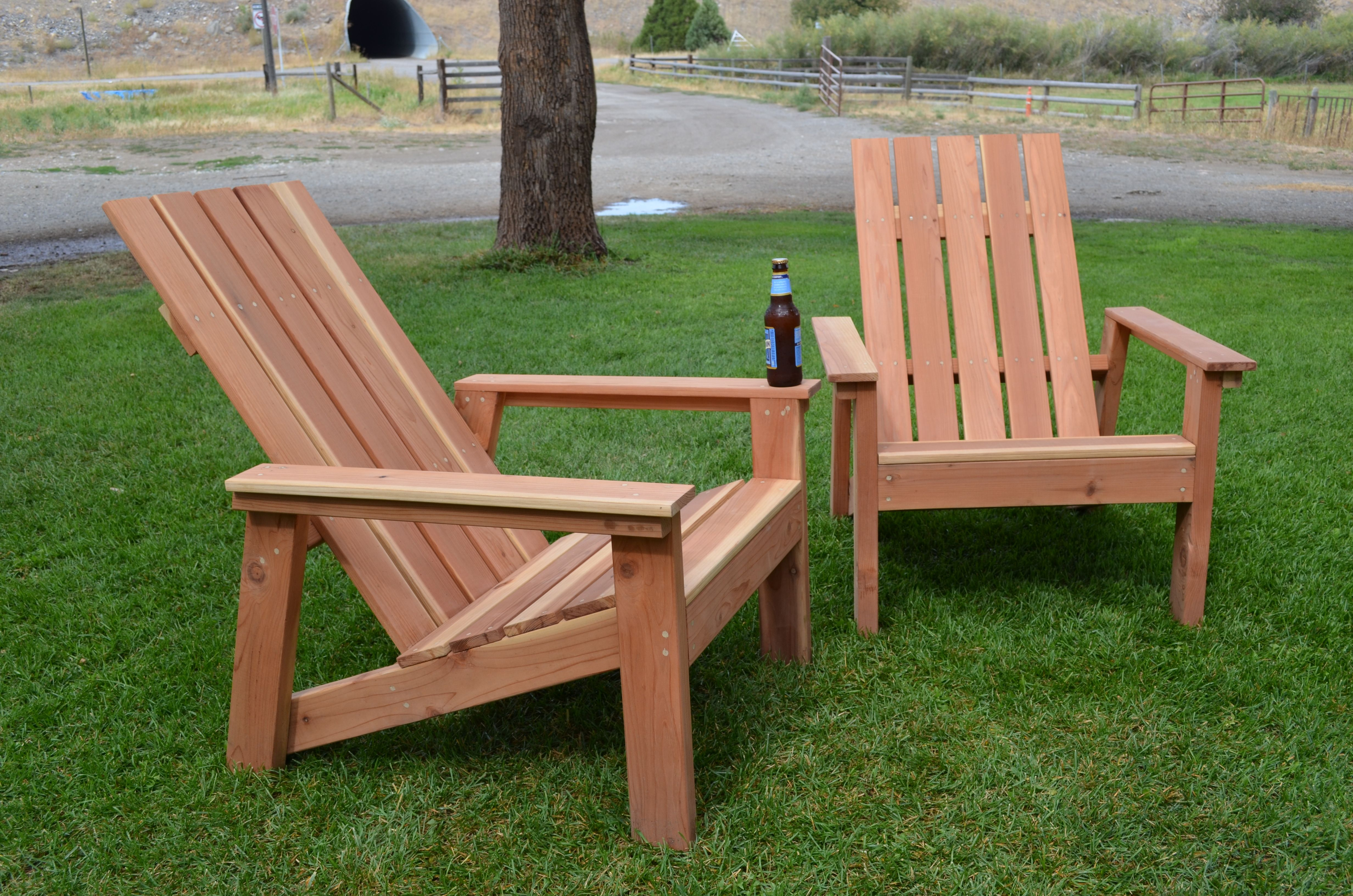 First Build Redwood Adirondack Chairs Do It Yourself