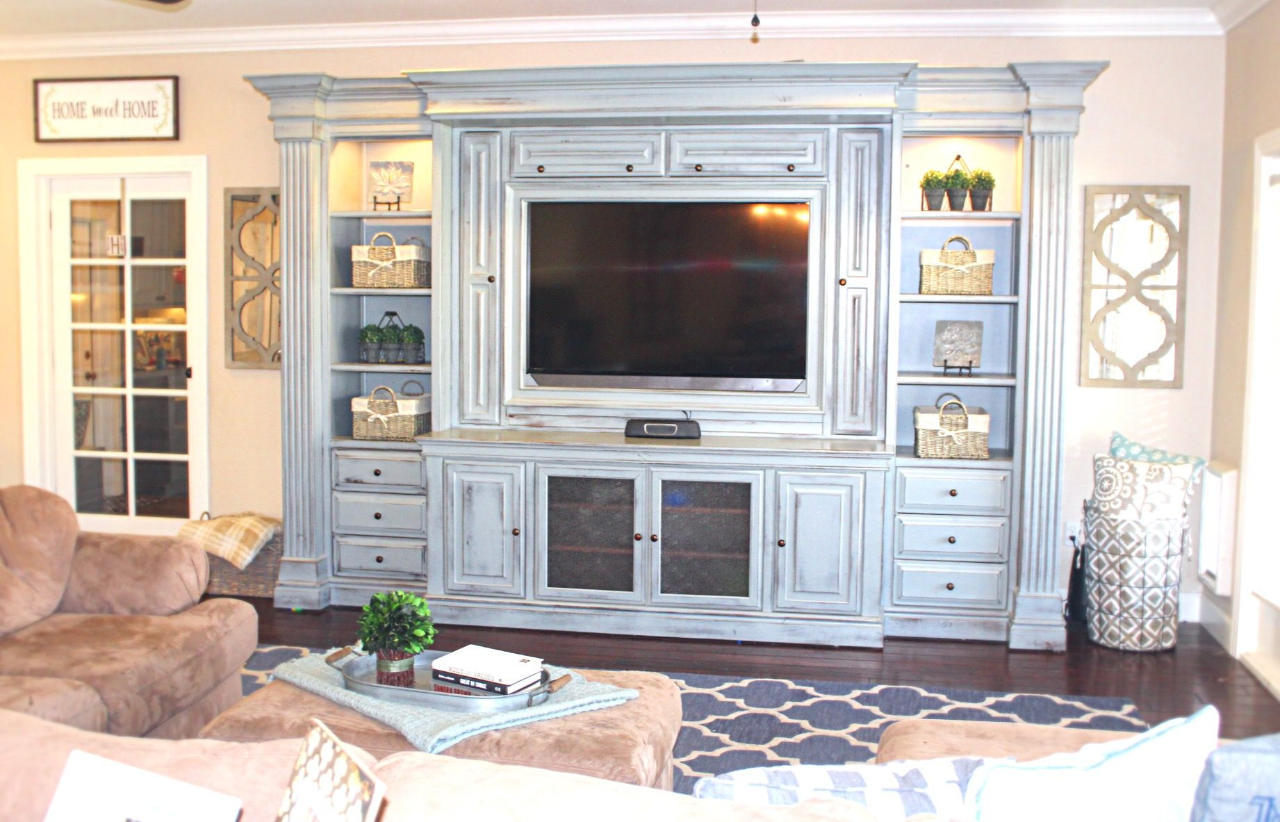 Entertainment center from thedecormama on instagram