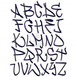 Graffiti Font Alphabet Letters Hip Hop Type Grafitti Design By Radmila Borojevic