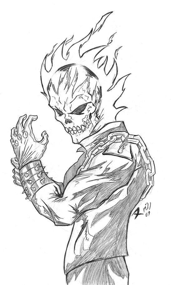 Ghost Rider Dibujo A Lapiz Buscar Con Google Arte