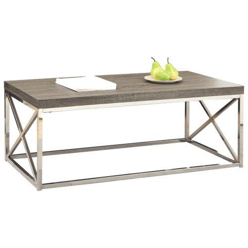 Table Basse A L Aspect De Bois Vieilli De Monarch I 3258 Taupe Fonce Bestbuy 180 Wood Cocktail Table Metal Cocktail Table Coffee Table Walmart