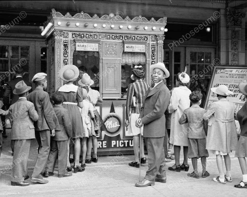 Movie Theatre Ticket Booth Line 1900s 8x10 Reprint Of Old Photo Shorpy Historical Photos Vintage Theatre Vintage Photos