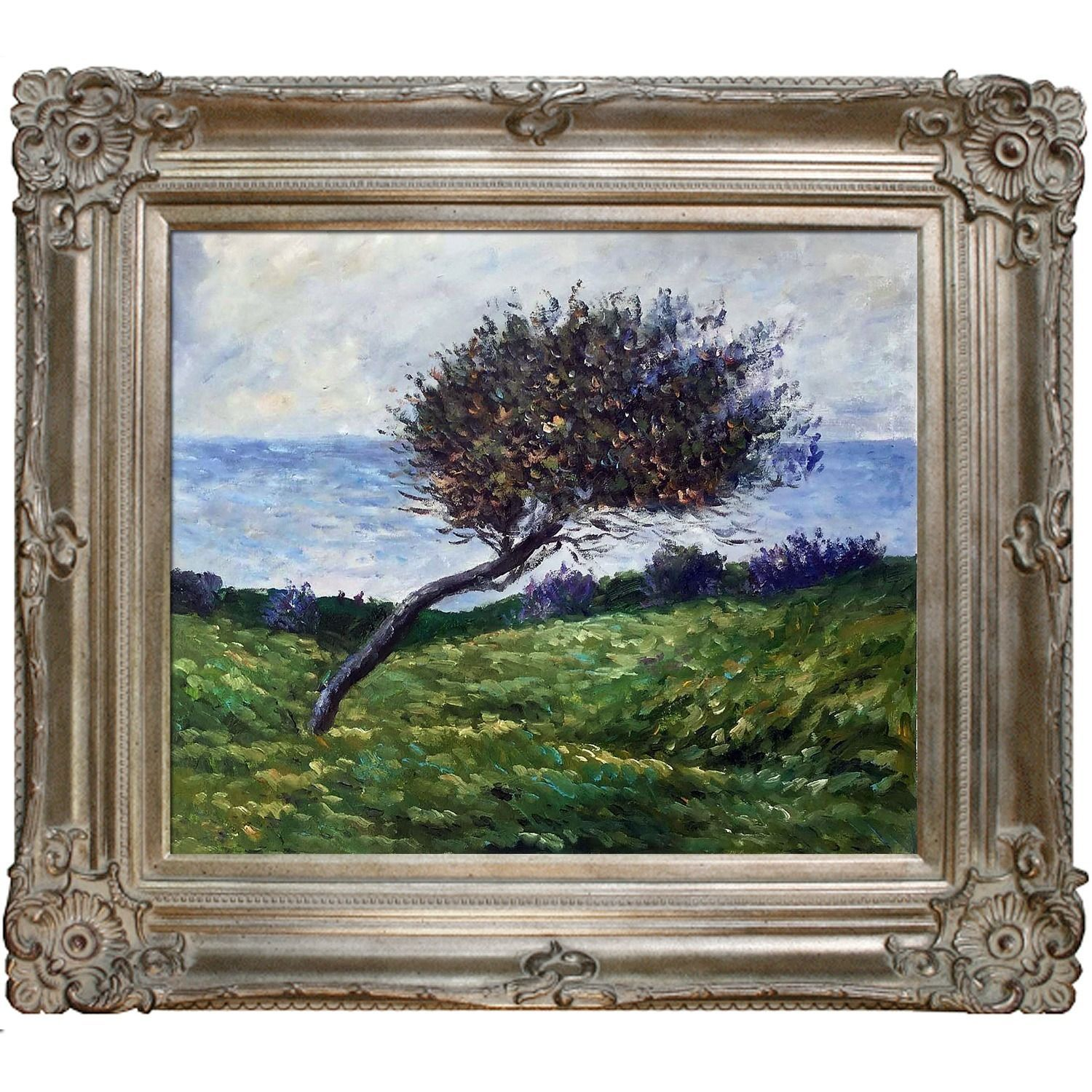 Claude Monet ' Coast at Trouville' Hand Painted Framed Art