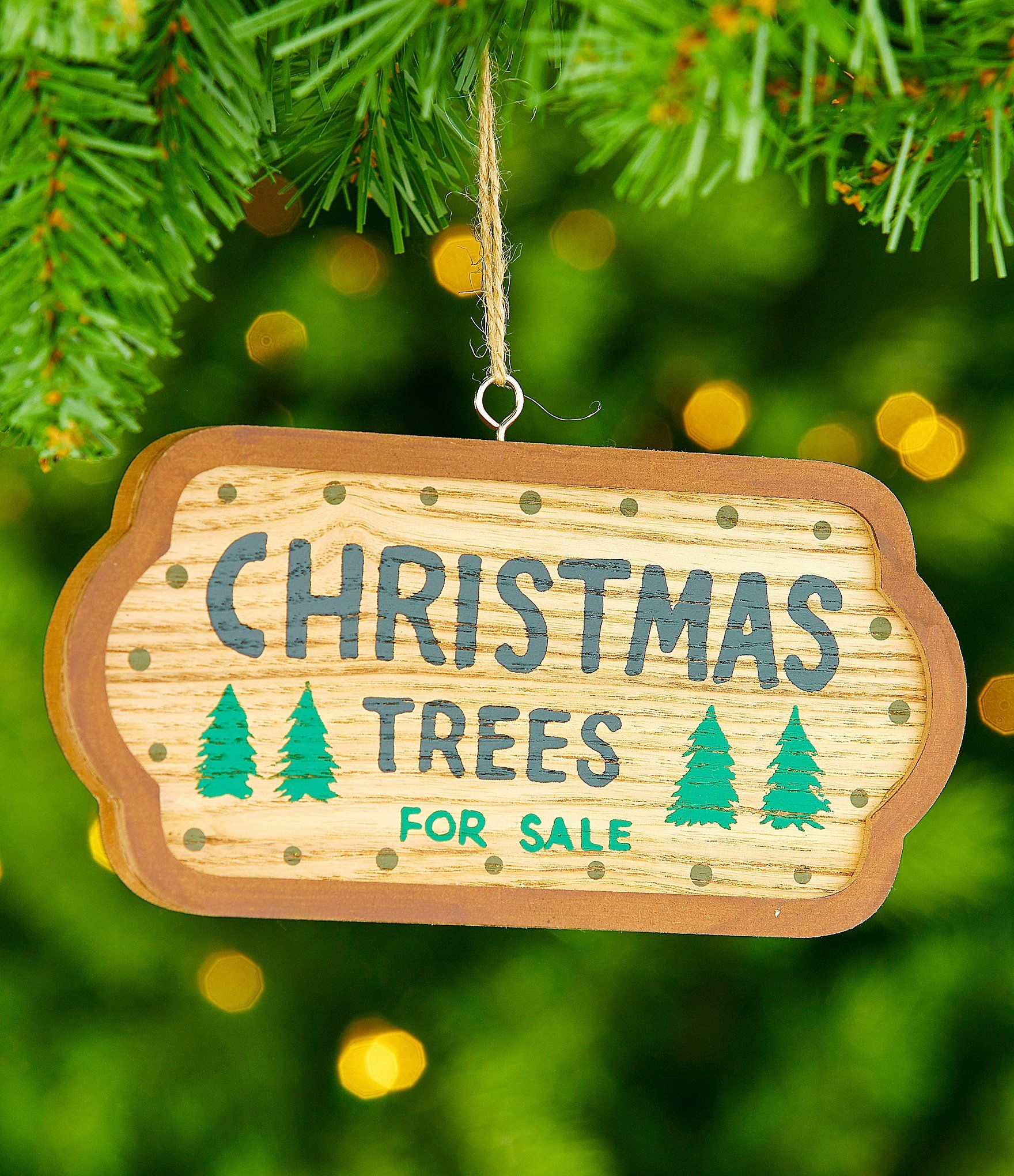 Trimsetter Lodge Collection Christmas Trees for Sale Sign