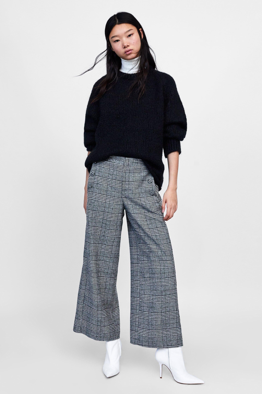 Culotte 0dd5wqr 1 Quadri Immagine Pantaloni Zara In A Di Style 2019 WZvYfwqvR