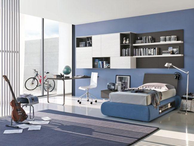 Tomasella Compas moderne kinderzimmer möbel blau grau - schlafzimmer blau grau