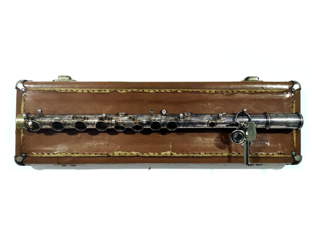 Recycled vintage Flute wall key holder. Unique music decor ...