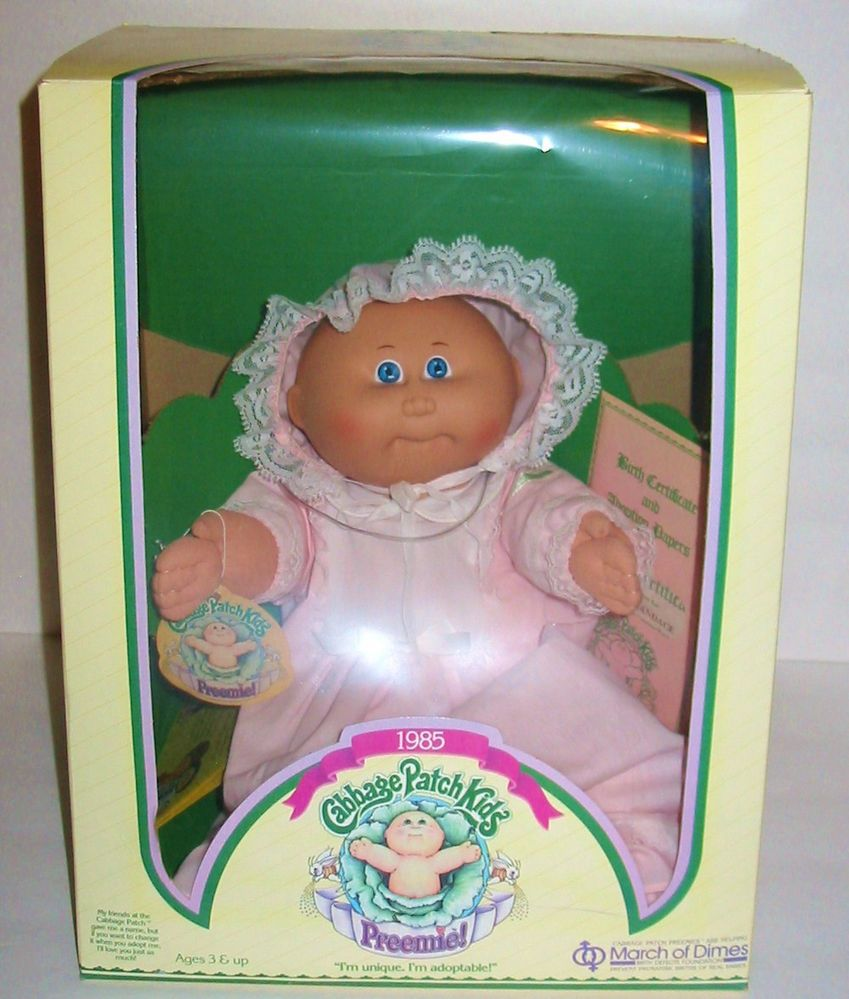 1985 Coleco Cabbage Patch Kids Preemie Dotty Candace Limited Ed March Of Dimes Coleco Cabbagepatchkids Cabbage Patch Kids Cabbage Patch Dolls March Of Dimes