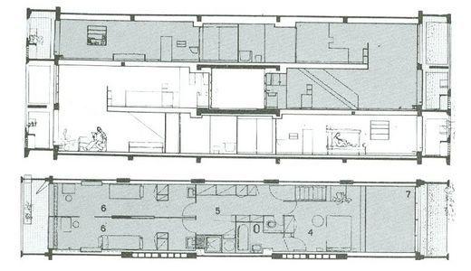 Plan appartement unit d 39 habitation recherche google projet pintere - Vente appartement le corbusier marseille ...