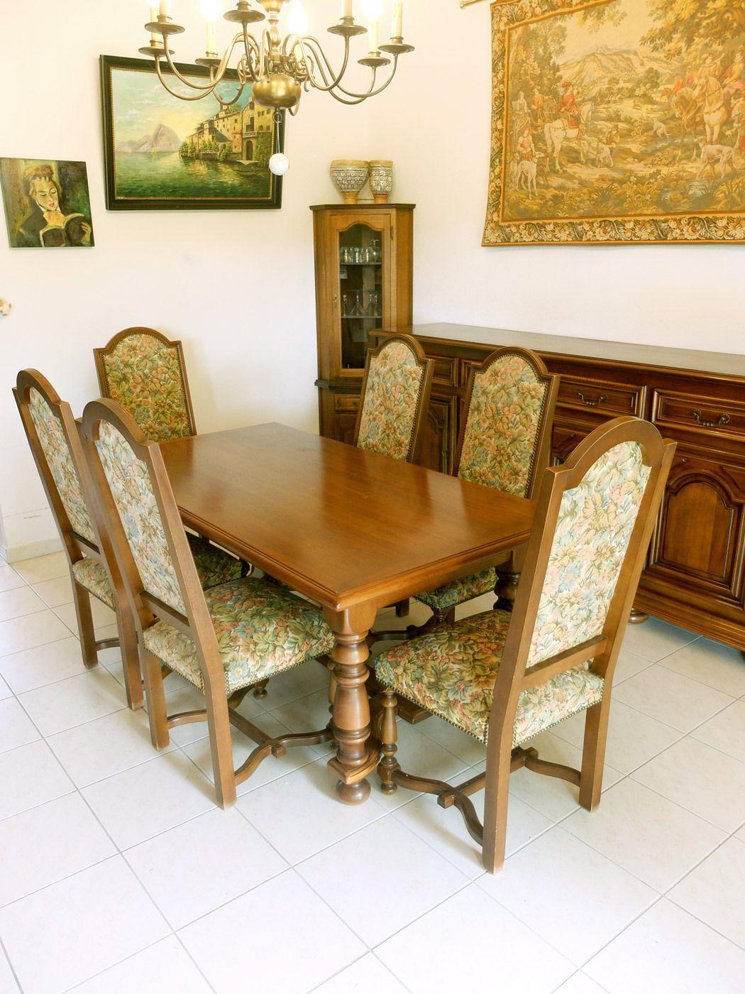 salle manger complte de style louis xiv tat exceptionnel