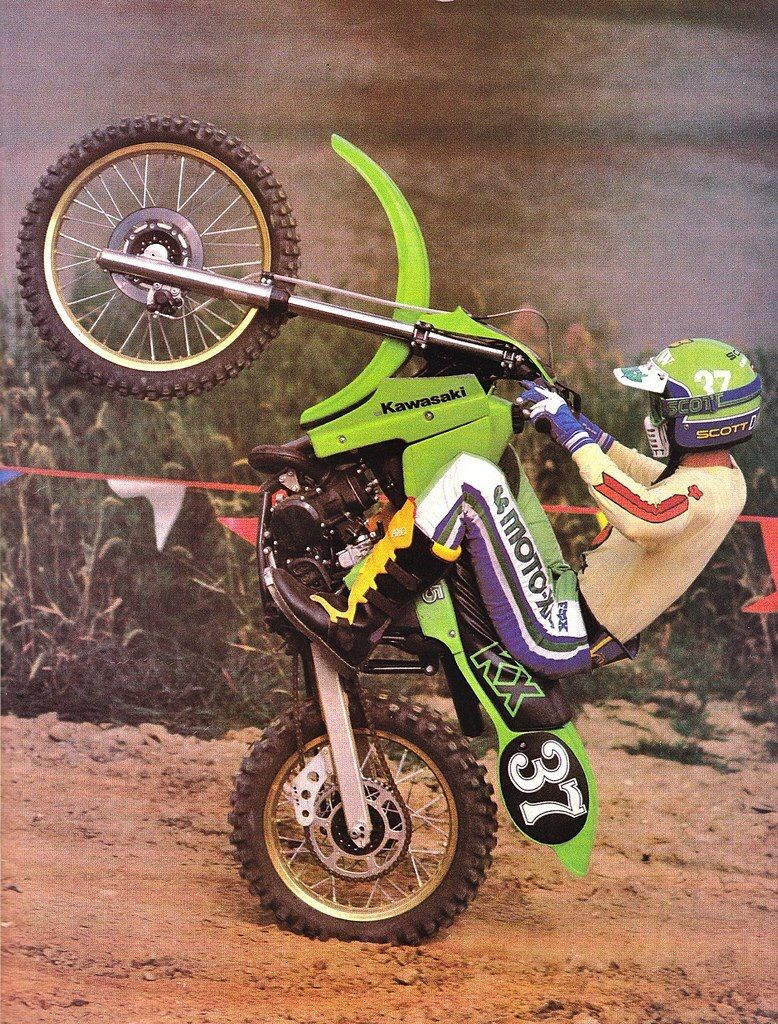 jeff ward kawasaki kx 125 cc 1980 bikes t moto cross. Black Bedroom Furniture Sets. Home Design Ideas