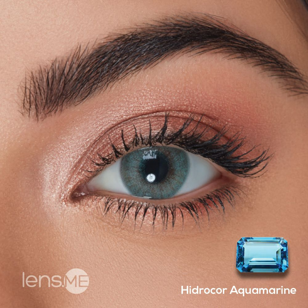 Hidrocor Aquamarine By Single In 2020 Green Contacts Lenses
