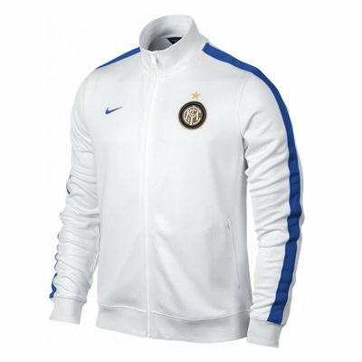 cheap for discount 8d814 1cae3 Nike Inter Milan Authentic N98 Soccer Jacket - White | Serie ...