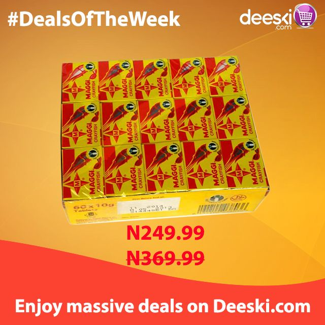 Enjoy amazing discount on special products on Deeski.com   Shop online at www.deeski.com OR Call/SMS 0814-300-4000 to order. You can also SMS the word 'Order' and a Customer Service Representative will call you back to take your order.  START BUYING NOW!!!!!!  #Deeski #Deals #DealsOfTheWeek #LowestPrices #Wholesale #Retail #Groceries