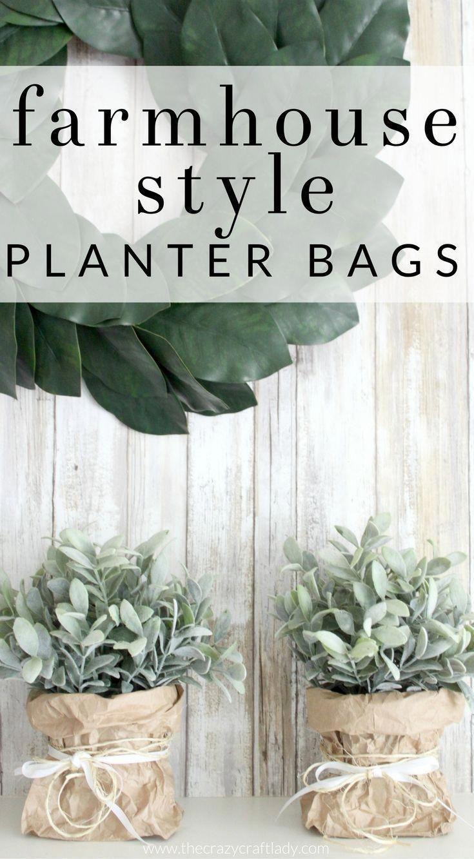 Display indoor greenery in a brown bag paper vase. Make