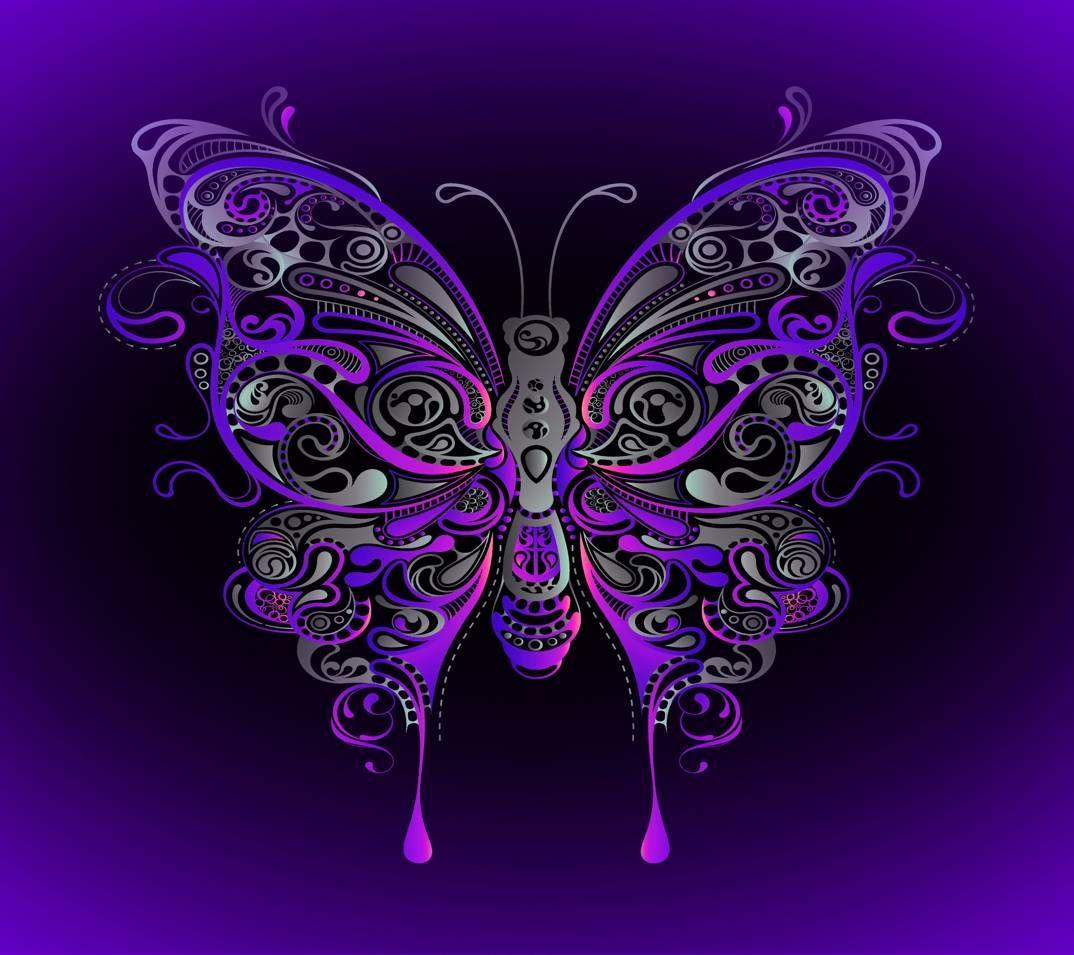 Butterfly Couleurs Pourpres Fond D Ecran Papillon Couleur Violet