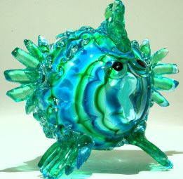Art glass fish - glass art from Kela's Gallery