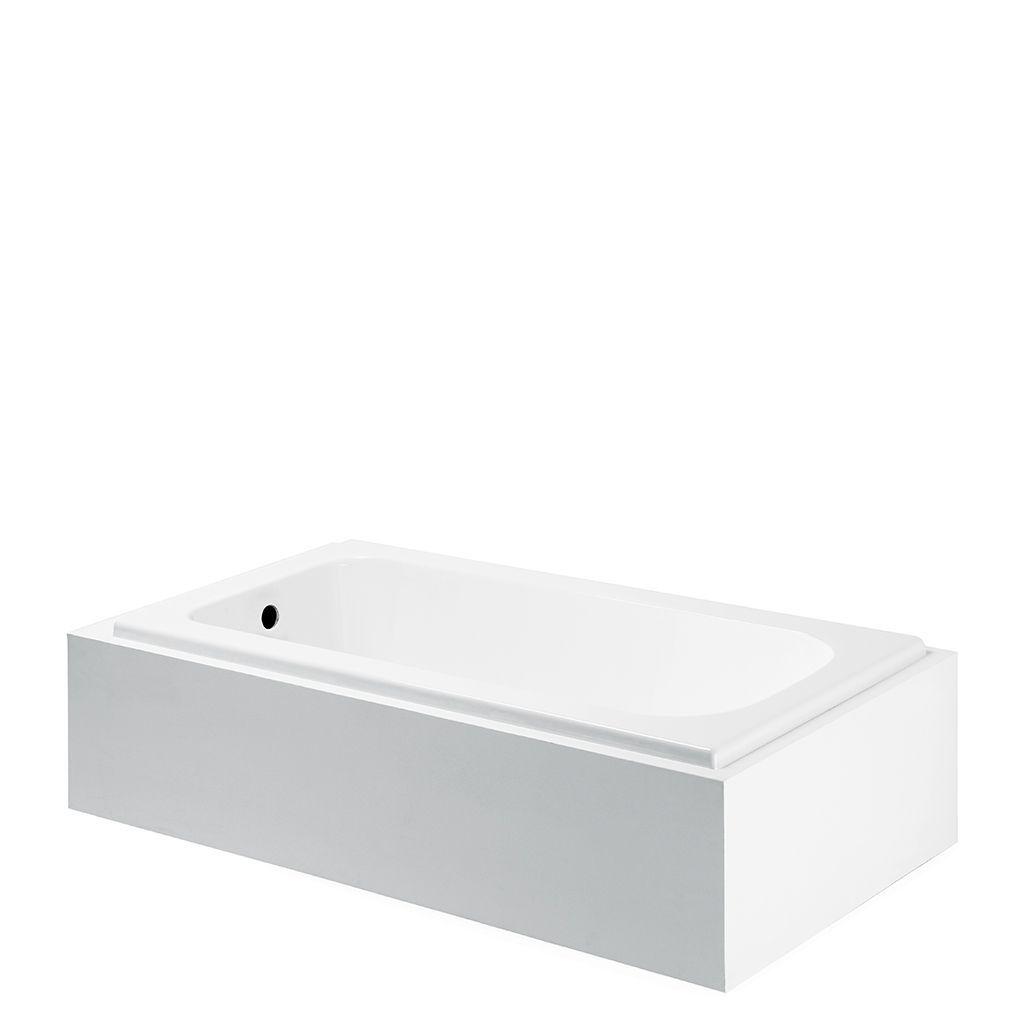 Minna 60 X 30 X 20 Rectangular Cast Iron Bathtub Cast Iron Bathtub Cast Iron Tub Bathroom Redesign