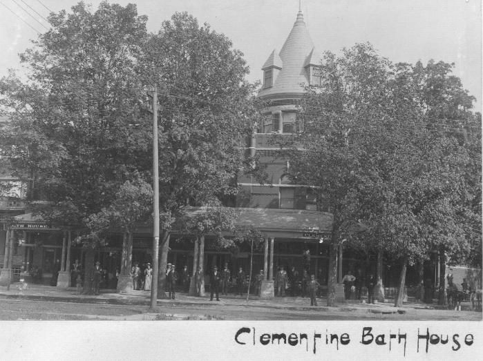 Exterior View Of The Clementine Bath House Ca 1895 Source Mount Clemens Public Library Local History Photo Collection Mount Clemens Michigan South River