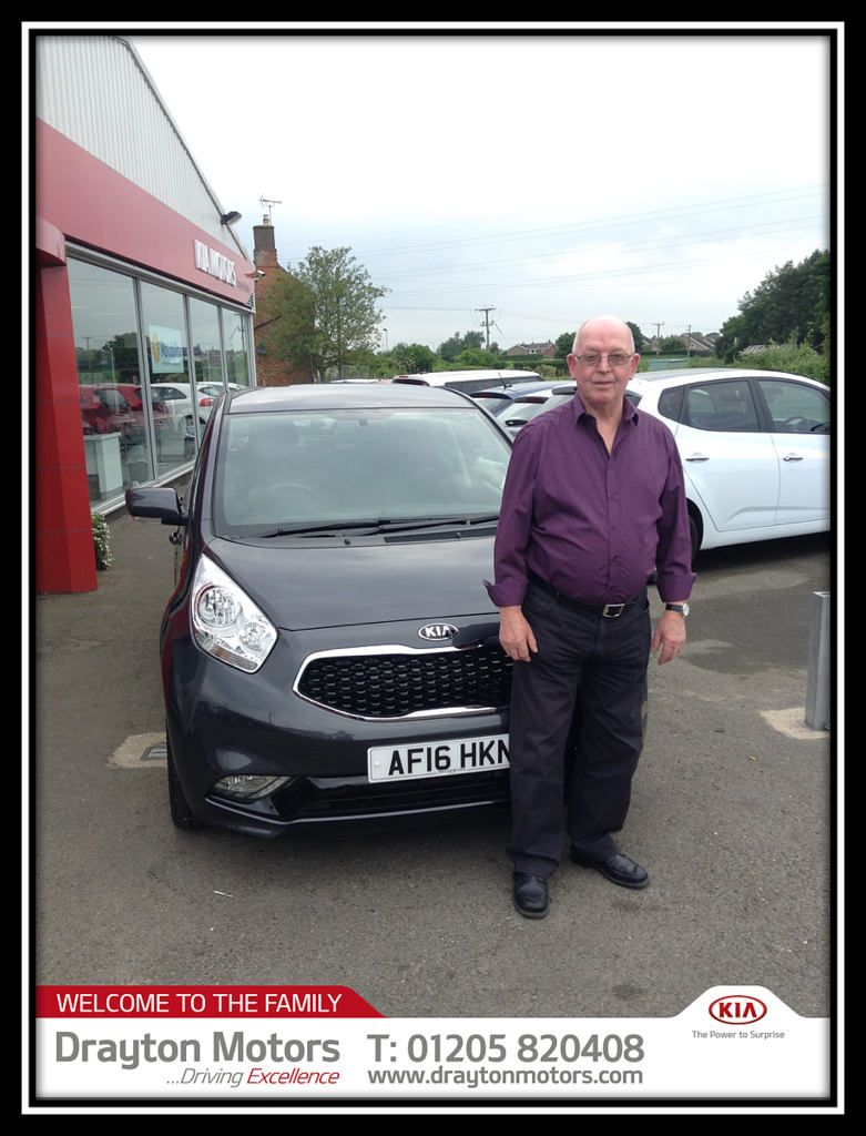 Mr Love who has picked up his new Kia Venga 1.6 CRDi 3 ISG.  To see our complete range of Brand New Kia cars, Used Approved Kia Cars and…