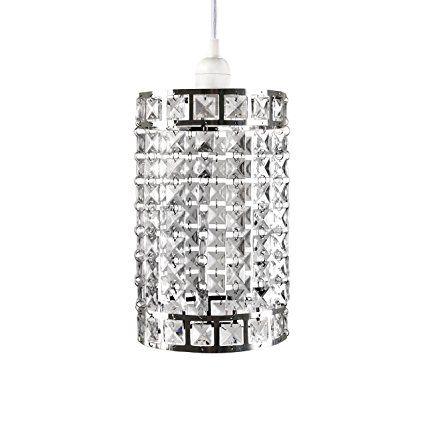 Tadpoles Faux-Crystal & Chrome Cylinder Shape Pendant Light Shade, Chandelier Style: Amazon.ca: Tools & Home Improvement