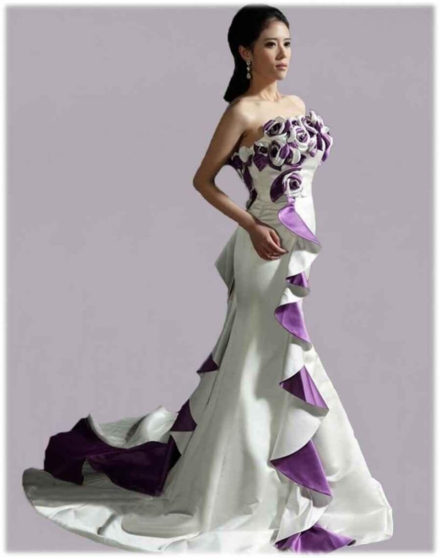Amazing White And Purple Wedding Dresses Ladystyle Pertaining To Light Purple And White Wedding Dresses Best Inspiration Purple Wedding Dress White Wedding Dresses Wedding Dresses [ 1140 x 898 Pixel ]