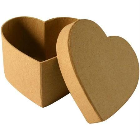Caja de cartón corazón 10,5 cm - Fotografía n°1